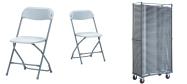 Klapstol Alex grå. Denne klapstol stabler 50 eller 100 stk. på en transportvogn. Vi giver gerne et godt tilbud på denne klapstol.