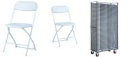 Klapstol Alex hvid. Denne klapstol stabler 50 eller 100 stk. på en transportvogKlapstol Alex hvid. Denne klapstol stabler 50 eller 100 stk. på en transportvogn. Vi giver gerne et godt tilbud på denne klapstol.