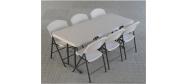 Klapstol med Lifetime fold in half 183 x 76 cm. Vi giver gerne et godt tilbud på denne klapstol.