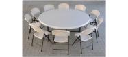 Klapstol Lifetime med Lifetime rund bord Ø182 cm. Vi giver gerne et godt tilbud på denne klapstol.
